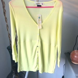 Old navy maternity yellow thermal top size m